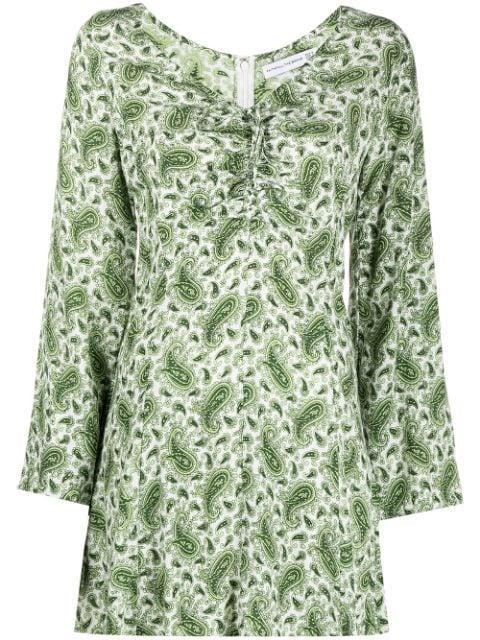 Faithfull the Brand Paisley-Print Long-Sleeve Dress - Farfetch