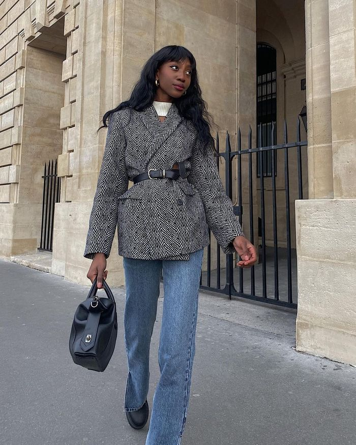 French girls wearing jean outfits