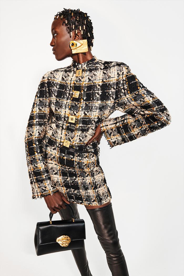 Paris Fashion Week autumn winter 2021 trends: boucle jacket at Schiaparelli