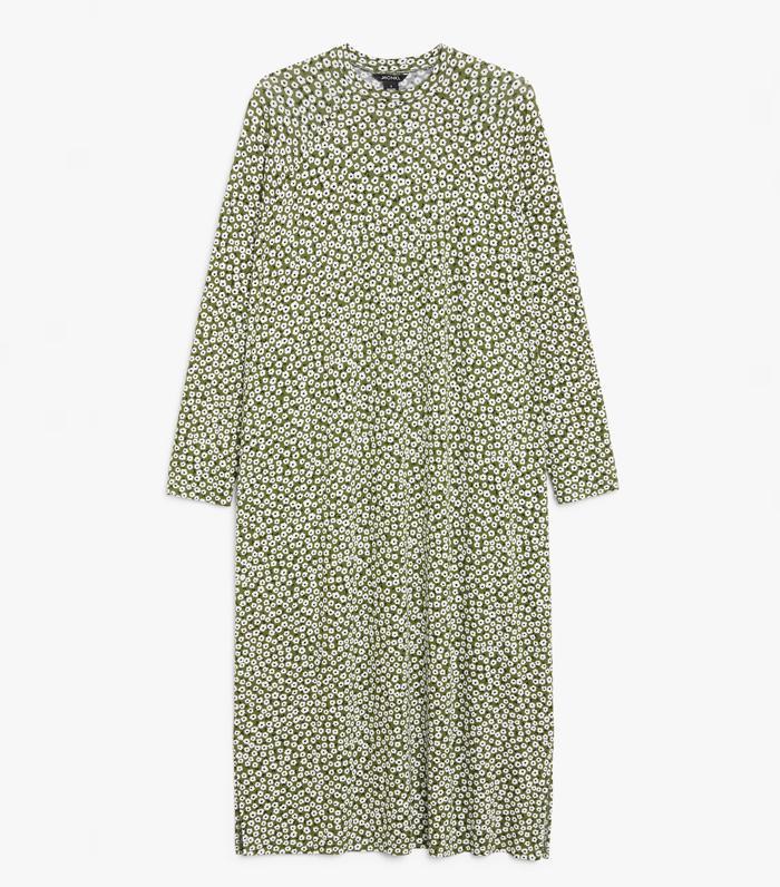 Monki Long-Sleeve Jersey Dress
