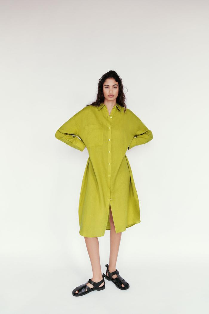 Zara Oversized Long Linen Shirt