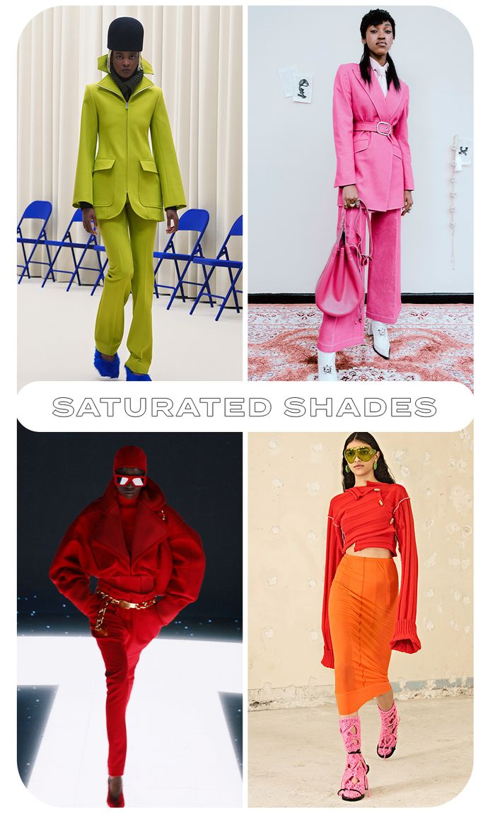 Paris fashion week fall winter 2021 trends: saturated shades