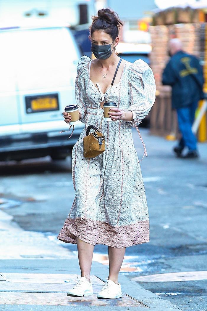 Katie Holmes spring dress trend