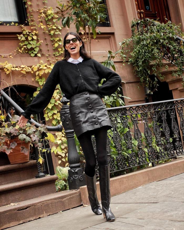 Sézane Knitwear: Babba wears Sézane's Gaspard knit