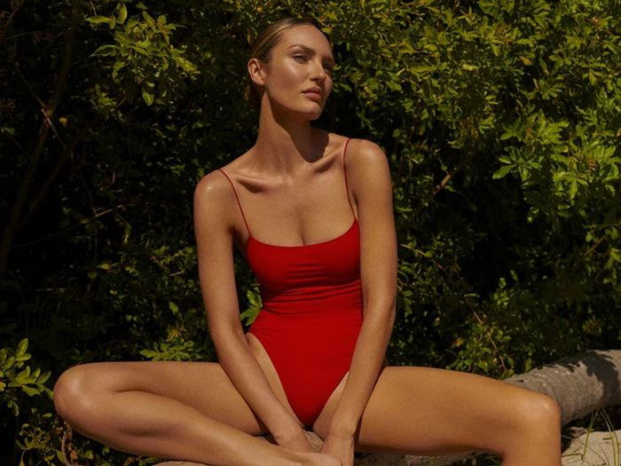 best red swimsuits