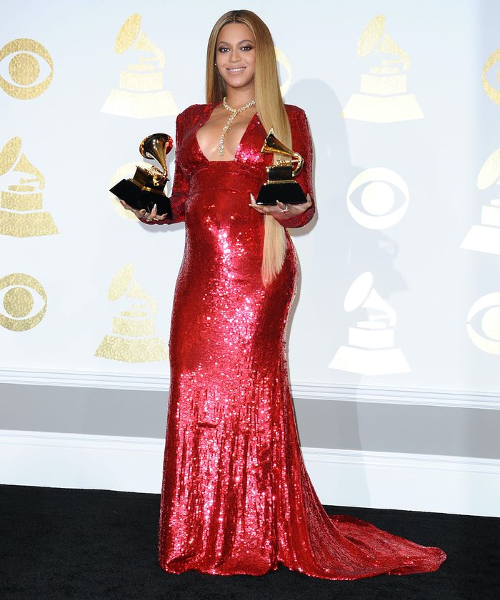 Beyoncé at the Grammys in 2017
