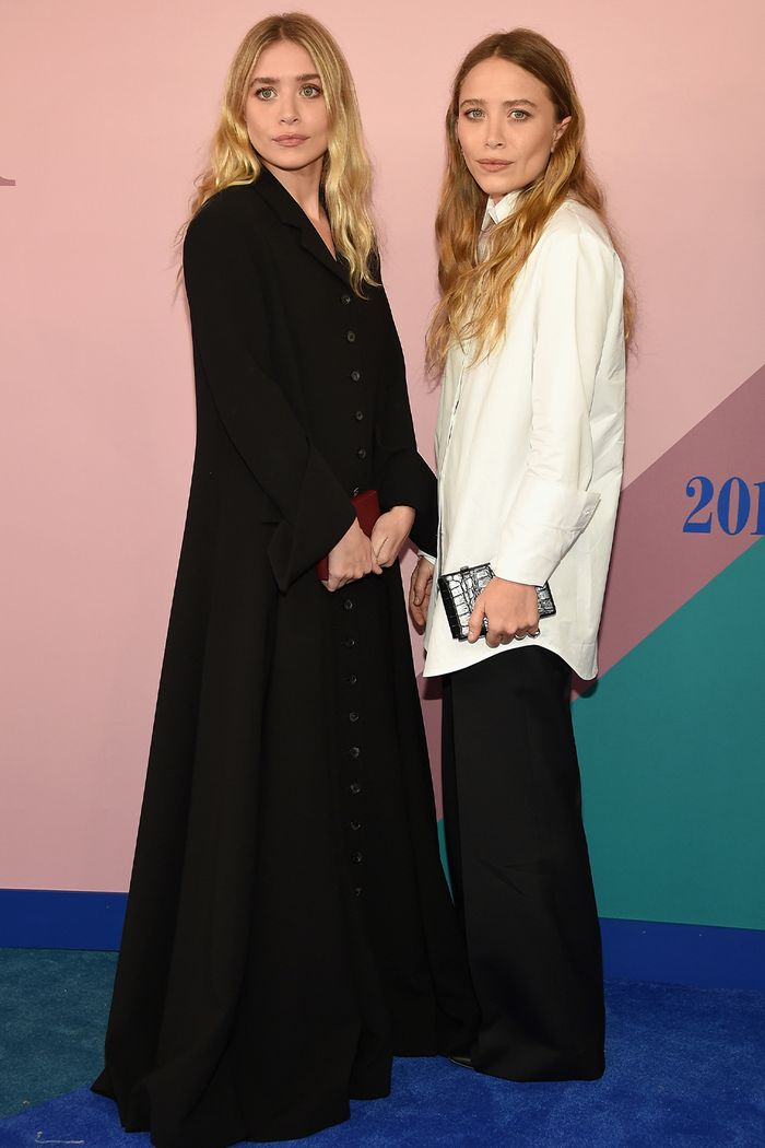 Olsen Twins Spring Outfit Ideas: Button Down Shirt and Trousers