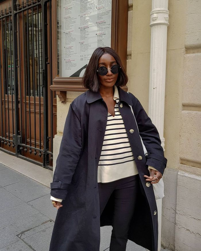 COS, Arket, and H&M Spring Collections: Aïda wears a striped knit from Arket