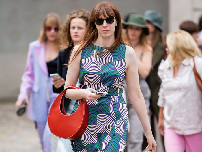 Erin Fitzpatrick fashion editor at Who What Wear attends Copenhagen Fashion Week street style