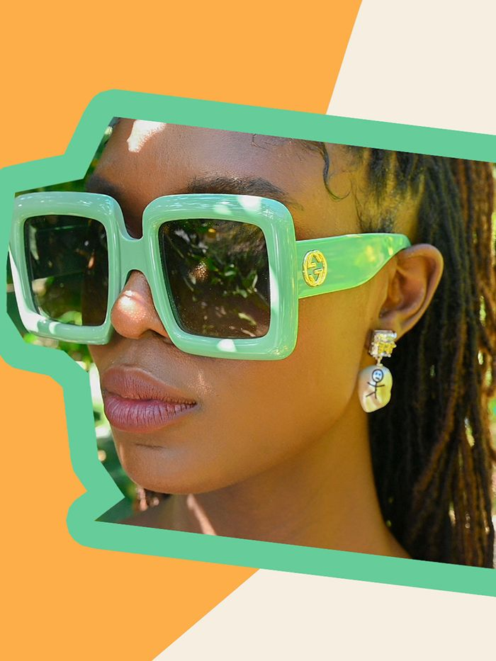 Gucci square frame sunglasses: Jodie Turner Smith