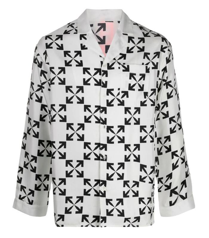 Off-White Arrows Print Silk Pyjamas