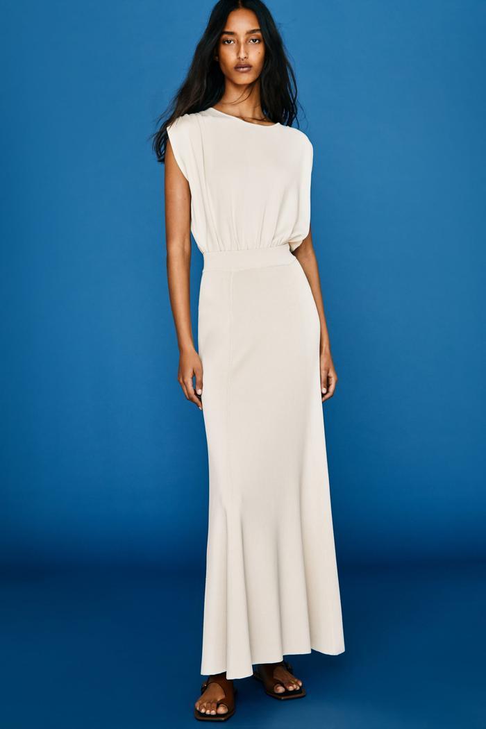 Zara Long Knit Skirt Limited Edition