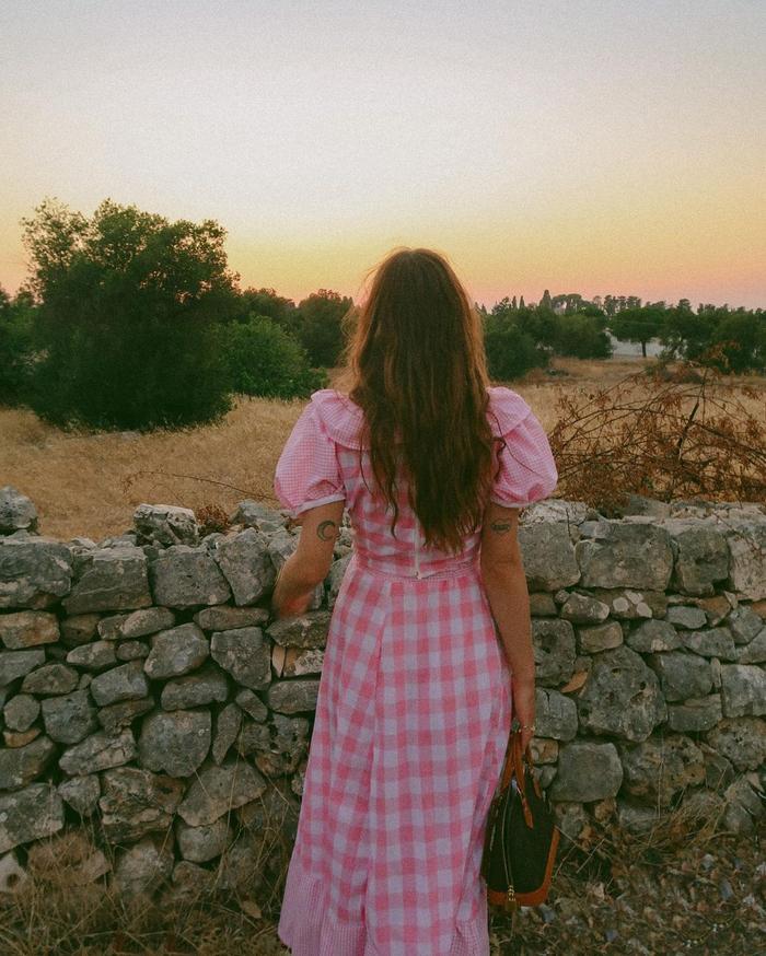 Pink dress trend: gingham dress