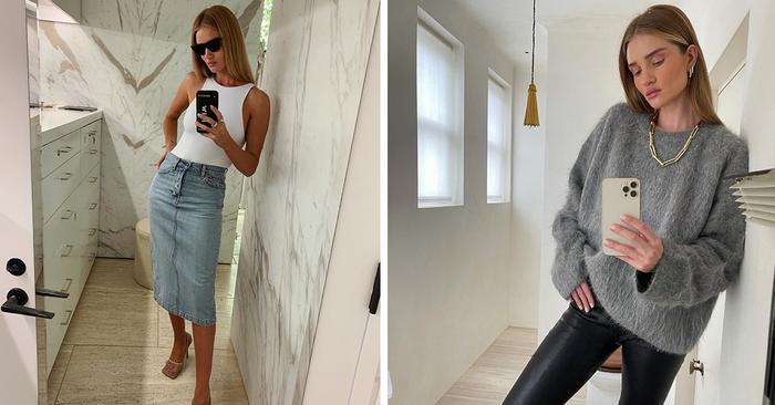 9 Classic Items Rosie Huntington-Whiteley Wears Again and Again