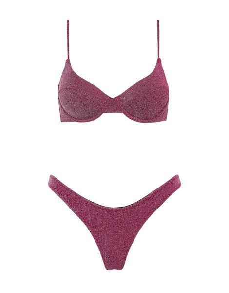 Triangl Macia Bikini in Grape Sparkle