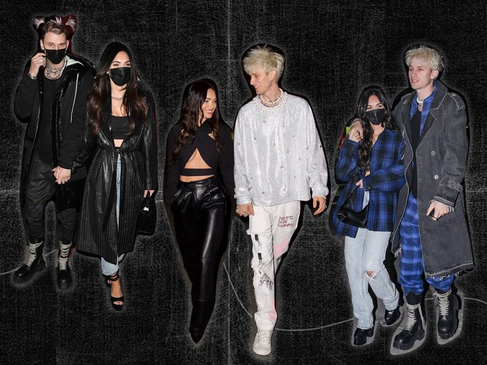 Megan Fox and Machine Gun Kelly date night outfit ideas, celebrity couple style