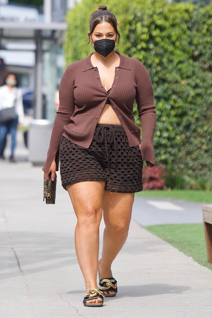 Ashley Graham shorts outfit
