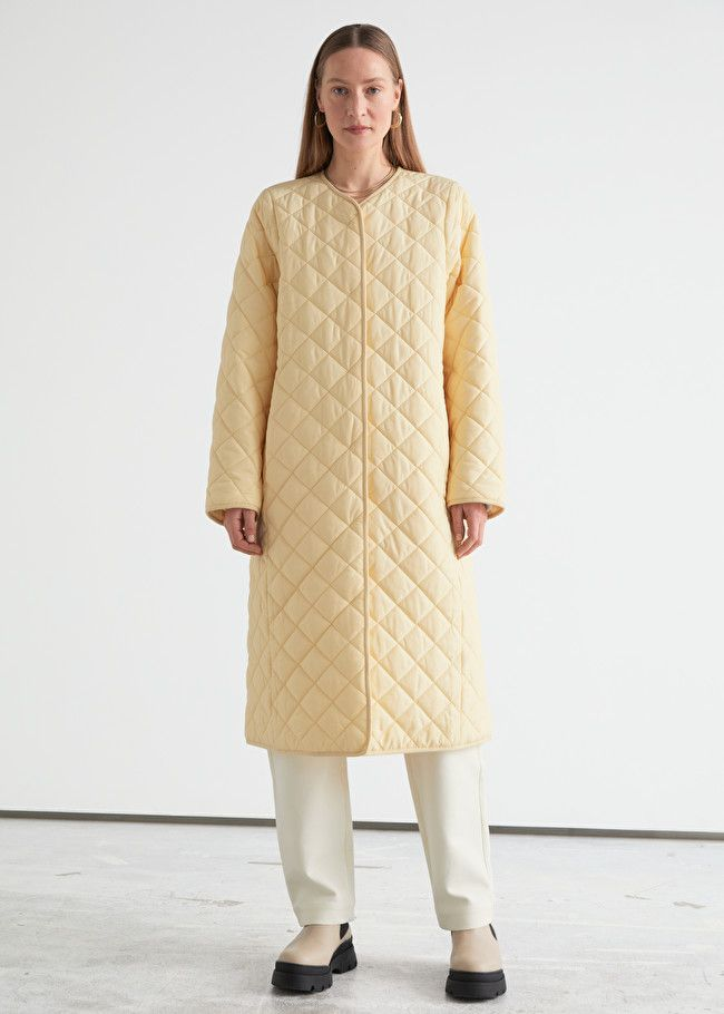 & Other Stories Quilted Banana Sleeve Coat