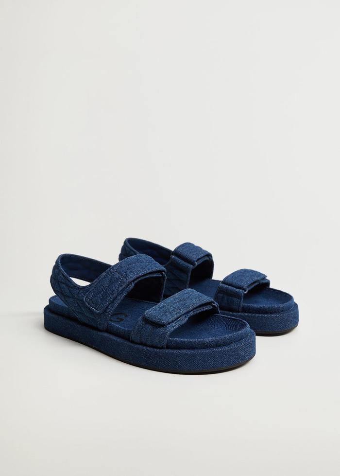 Mango Denim Cotton Sandals