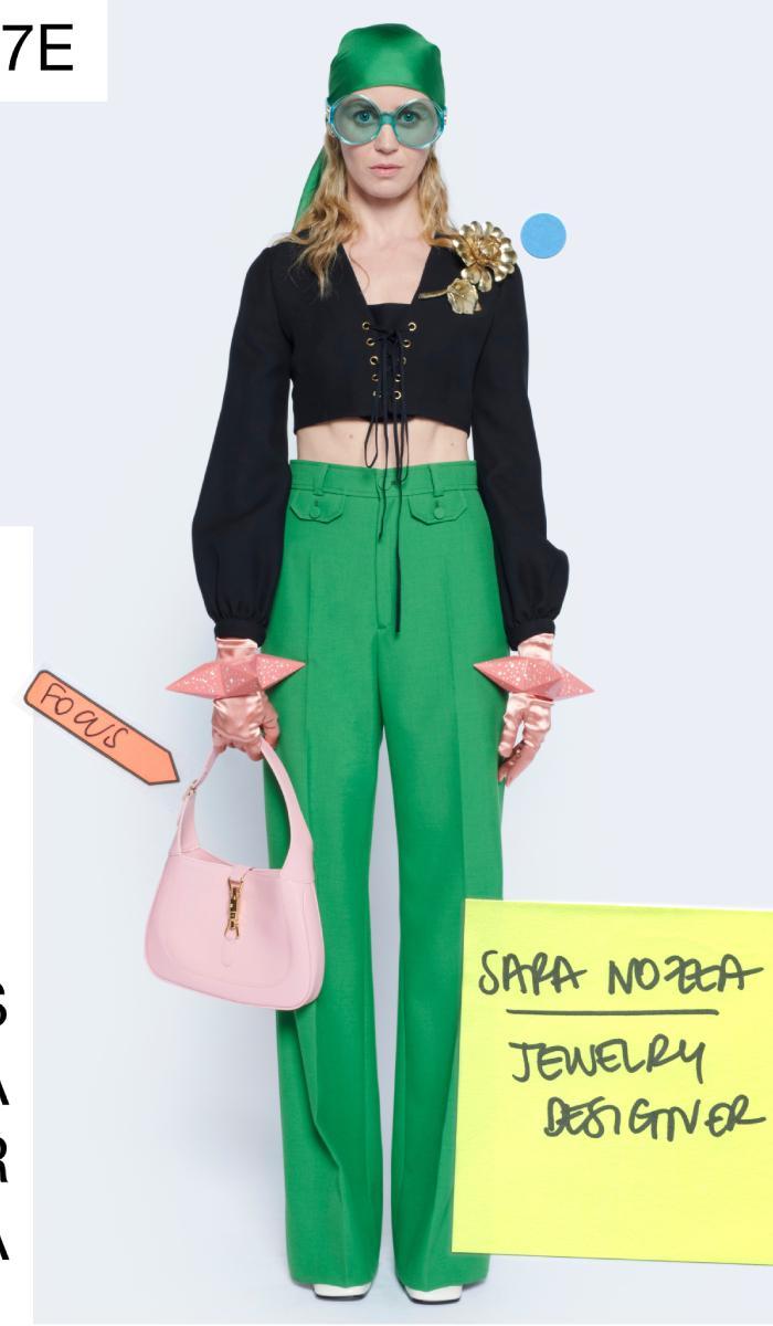 green fashion trend 2021: gucci