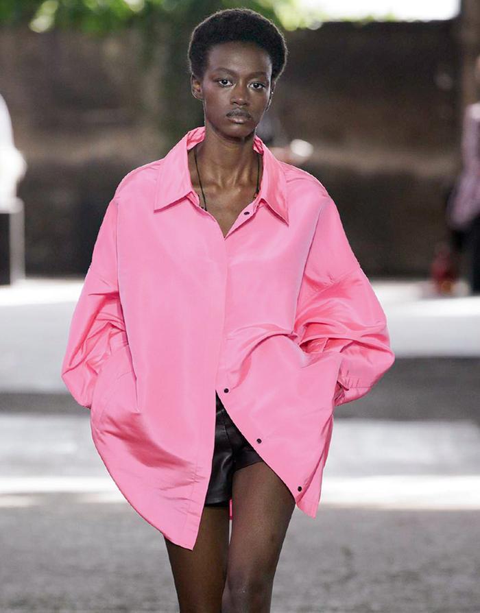 Bright pink shirts: Valentino