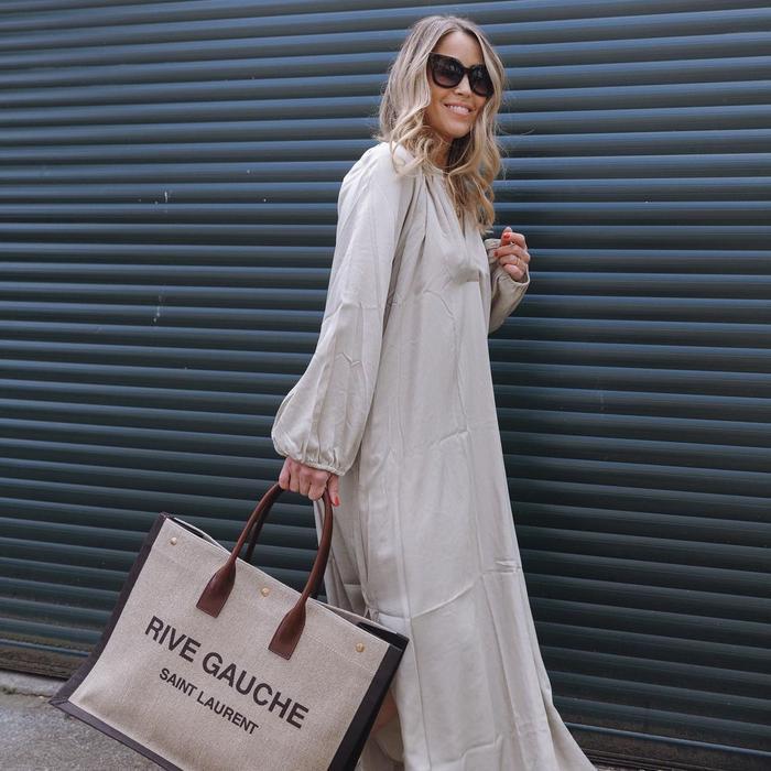 best designer canvas bags: Saint Laurent Rive Gauche Noe tote