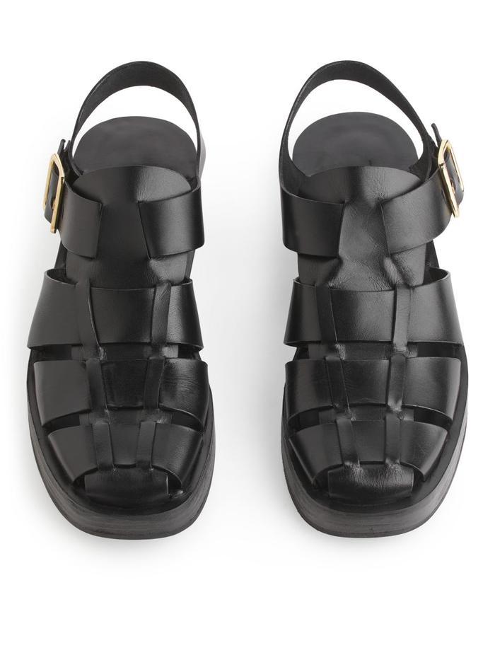 Arket Cage Leather Sandals