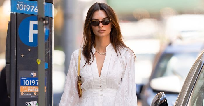 EmRata Wore the  Sneakers That Look Good With Every Summer Dress