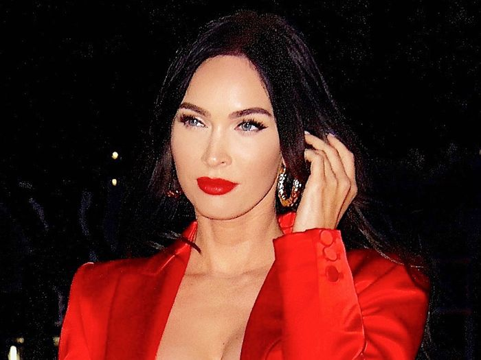 Megan Fox Wore a Bralette as a Shirt With Her Power Pantsuit