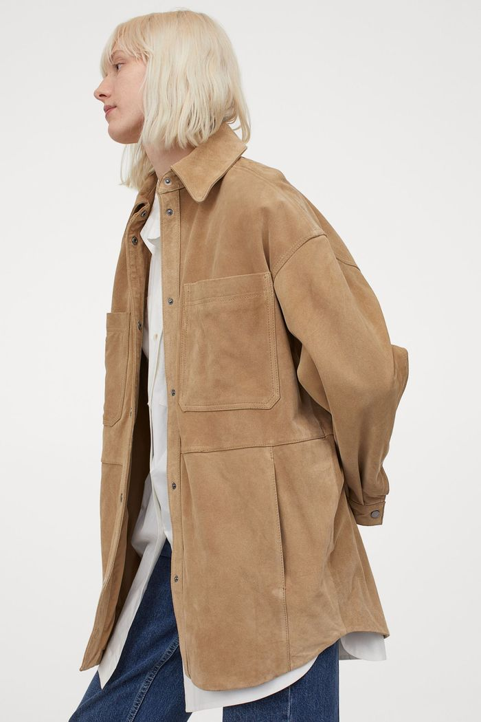 H&M Oversized Suede Jacket