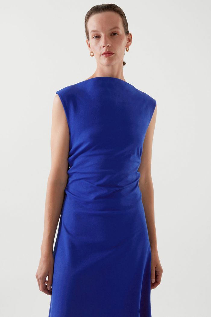 cos ruched dress: