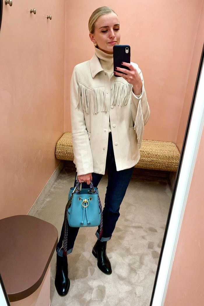 H&M fringed jacket outfits