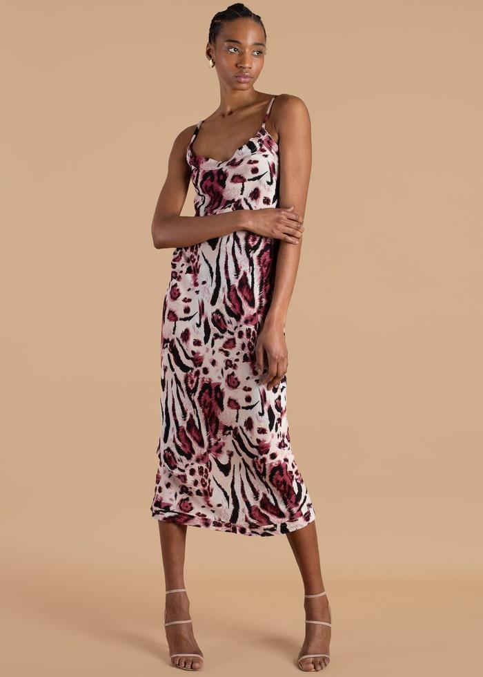 W35T Animal Print Slip Dress