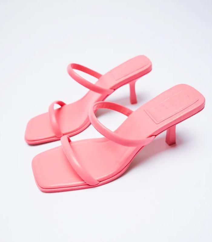 Zara Strappy Heeled Leather Sandals
