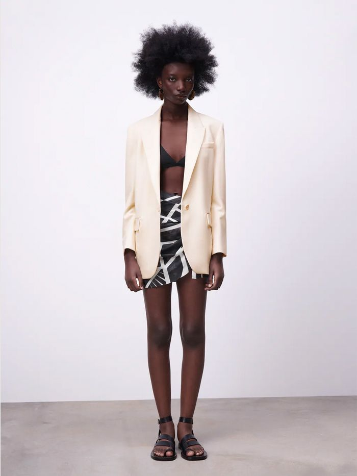 Zara Oversized Blazer With Pockets