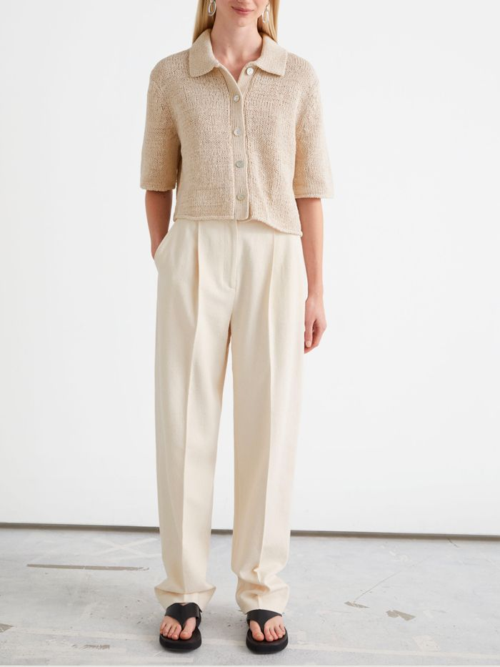 & Other Stories Relaxed Tailored Press Crease Trousers