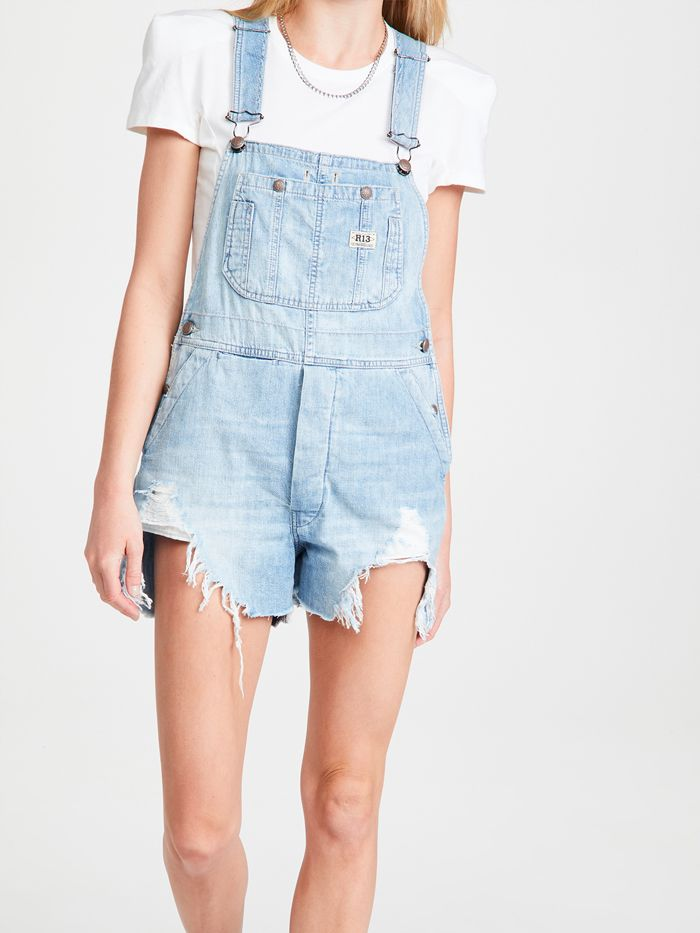 R13 Overall Shorts