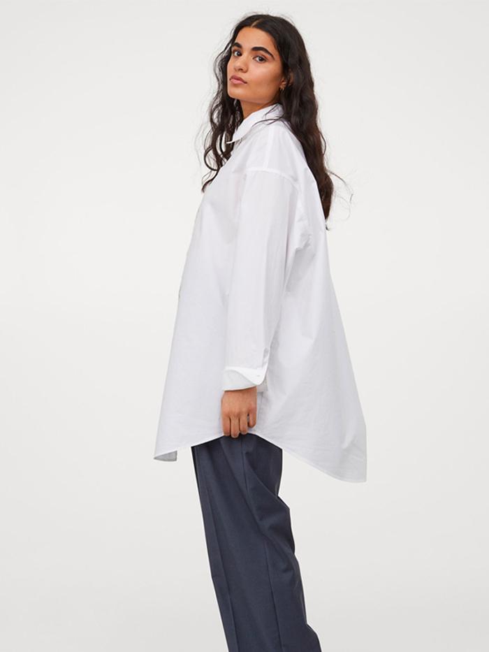 H&M Long Cotton Shirt