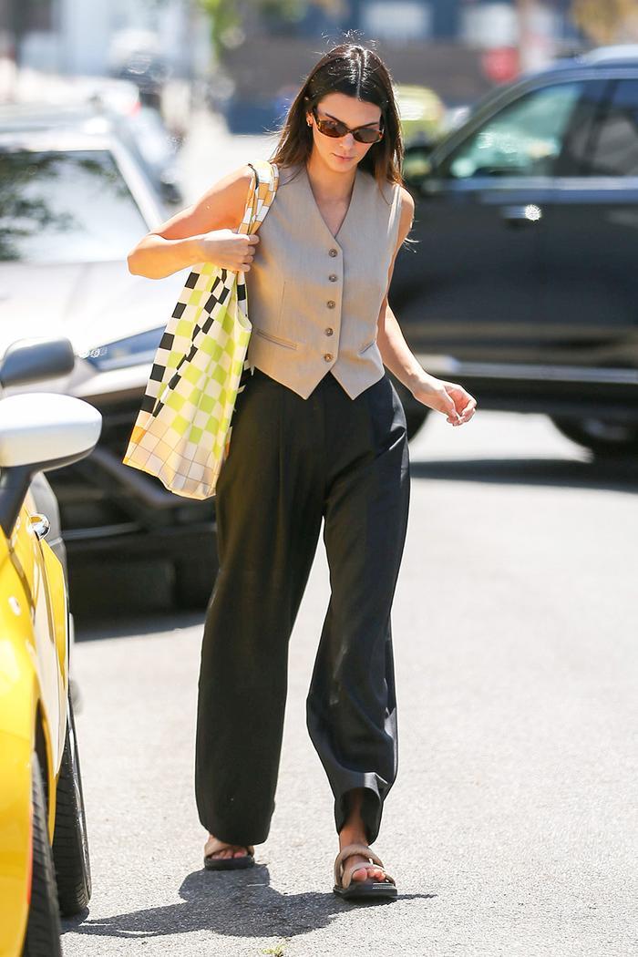 Kendall Jenner vest trend