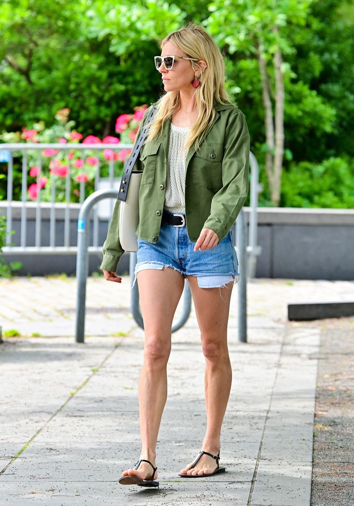 Sienna Miller shorts outfit