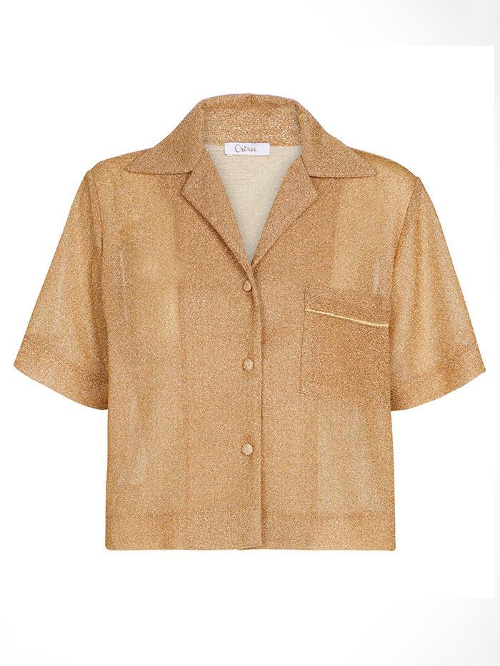Oséree Lumière Cropped Shirt