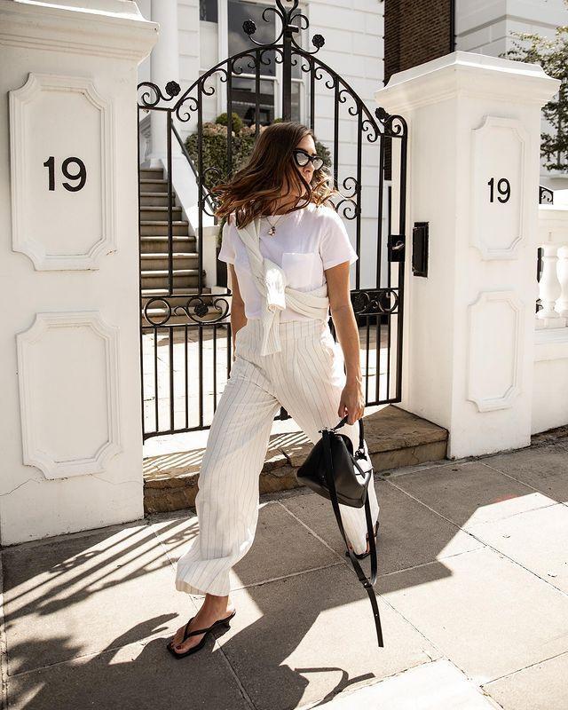 Best Linen Cropped Trousers: @_jessicaskye wears cropped linen trousers
