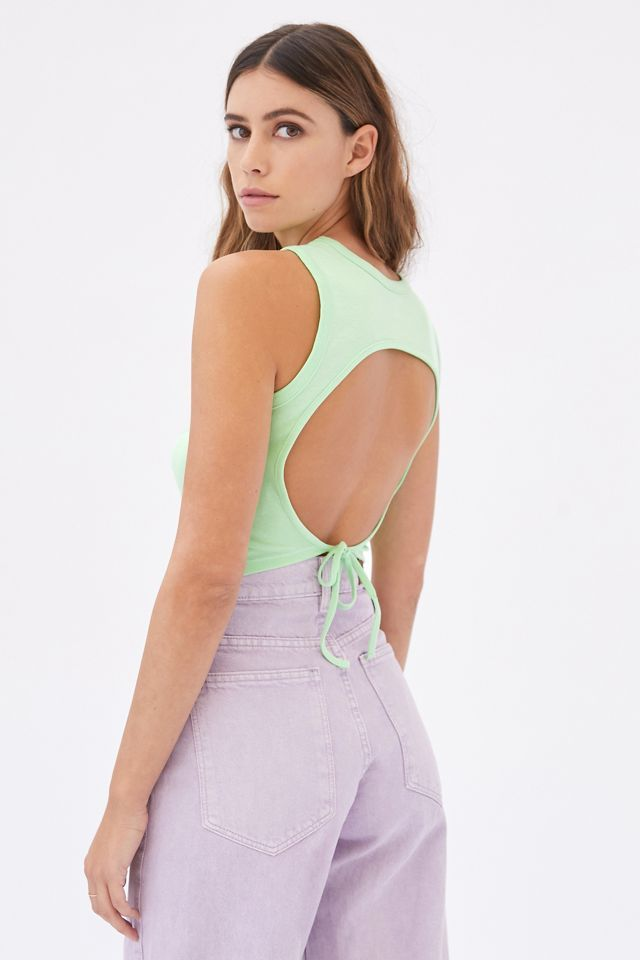 Urban Outfitters Diamante Dolphin Tie-Back Tank Top