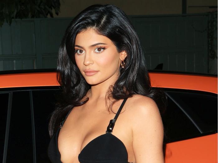 Kylie Jenner wore Balenciaga rubber pink heels