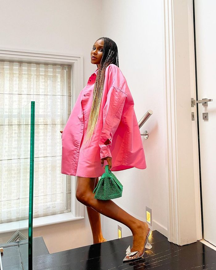 London summer trends 2021: pink and green outfits