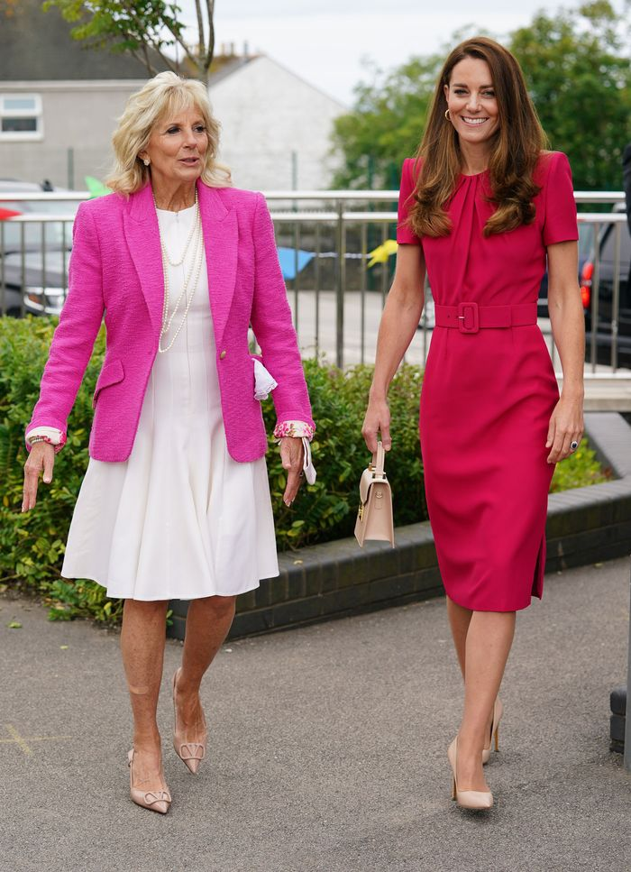 Jill Biden and Kate Middleton outfits