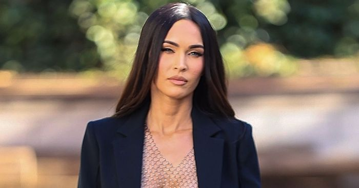 Megan Fox Wore a See-Through Sequin Top That Has the Internet Abuzz