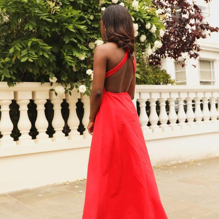 Red Backless Zara Dress @eniswardrobe