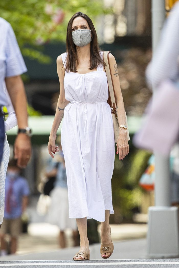 Angelina Jolie white dress