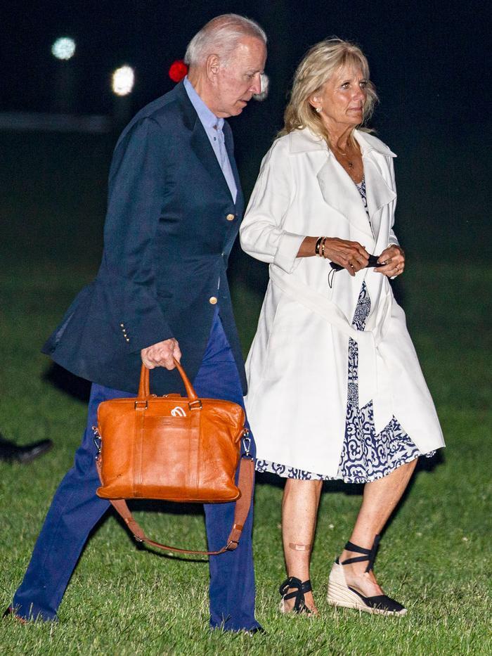 Jill Biden wearing espadrilles